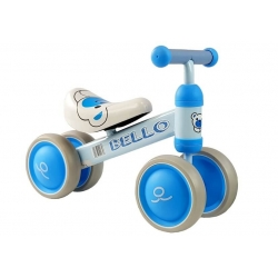 Rowerek Bello czterokołowy niebieski