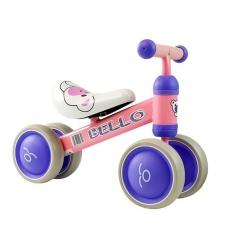 Rowerek Bello czterokołowy różowy