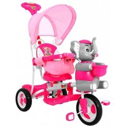 Rowerek trójkołowy SŁONIK Różowy