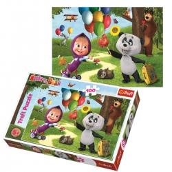 TREFL 16370 Puzzle 100 el. Masza i Przyjaciele 5+