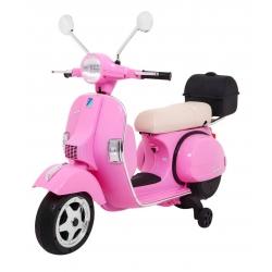 Motocykl motor na akumulator Skuter Vespa różowy