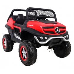 Pojazd auto na akumulator Mercedes BENZ UNIMOG Czerwony