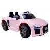 Samochód na akumulator AUDI R8 SPYDER 12V różowy