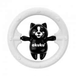 AKUKU A0467 Grzechotka czarno-biały Miś