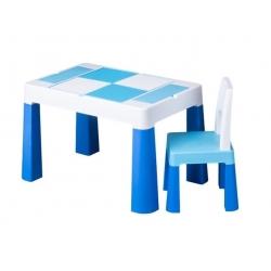TEGA Komplet MULTIFUN stolik+ krzesełko - niebieski