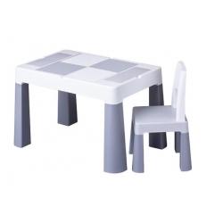 TEGA Komplet MULTIFUN stolik+ krzesełko - szary