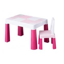 TEGA Komplet MULTIFUN stolik+ krzesełko - różowy