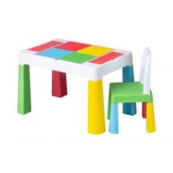 TEGA Komplet MULTIFUN stolik+ krzesełko - multicolor