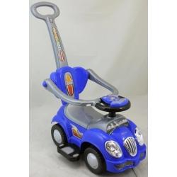 BabyMix Pojazd jeździk pchacz dla dzieci 2w1 niebieski