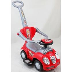 BabyMix Pojazd jeździk pchacz dla dzieci 2w1 czerwony