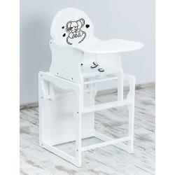 BR Krzesełko do karmienia 2w1 MYSZKI biały