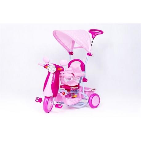 Rowerek trójkołowy SKUTER różowy