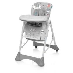 BABY DESIGN Krzesełko do karmienia PEPE 07 grey