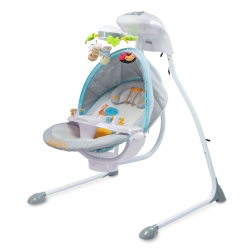 CARETERO Huśtawka niemowlęca elektryczna BUGIES POPIEL