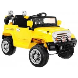 Samochód na akumulator JEEP TERENOWY żółty