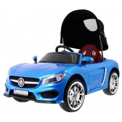 Samochód na akumulator pojazd ROADSTER Z BALDACHIMEM niebieski