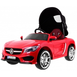 Samochód na akumulator pojazd ROADSTER Z BALDACHIMEM czerwony