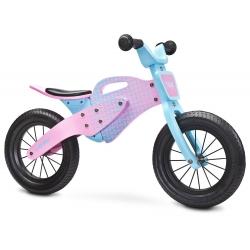 DREWNIANY Rowerek biegowy ENDURO pink