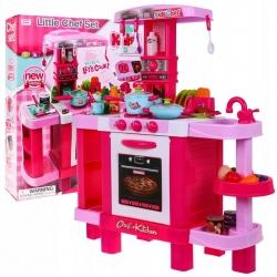 Interaktywna kuchnia dla dzieci z okapem różowa