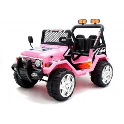 Auto Samochód na akumulator JEEP RAPTOR DWUOSOBOWY TERENOWY różowy