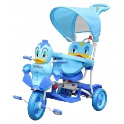 Rowerek trójkołowy WESOŁY KACZOREK niebieski