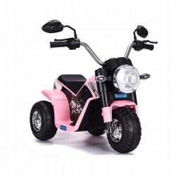Motocykl motor na akumulator Motorek MiniBike Harley różowy