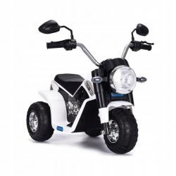 Motocykl motor na akumulator Motorek MiniBike Harley biały