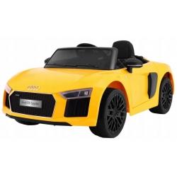 Samochód na akumulator AUDI R8 SPYDER RS KOŁA PIANKOWE żółty