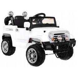 Samochód na akumulator JEEP TERENOWY biały