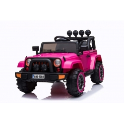 Samochód na akumulator Full Time 4WD napęd 4x4 różowy