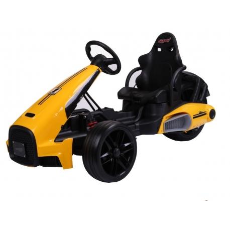 Pojazd Bolid XR-1 na akumulator GOKART TRÓJKOŁOWIEC żółty