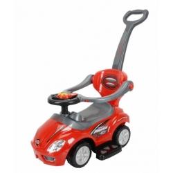 BabyMix Pojazd jeździk pchacz dla dzieci 2w1 UR-FLB 301 czerwony