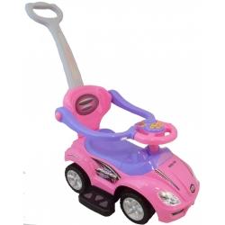 BabyMix Pojazd jeździk pchacz dla dzieci 2w1 UR-FLB 301 różowy