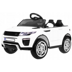 Samochód na akumulator RAPID RACER biały