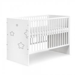 KLUPŚ Łóżeczko łóżko dziecięce TINO STARS  biały