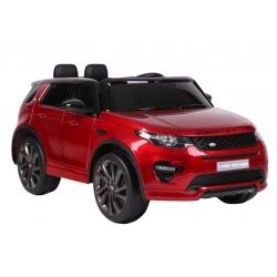 Samochód AUTO na akumulator pojazd Land Rover LAKIEROWANY czerwony