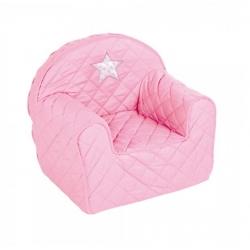 ALBERO MIO Fotel pufa z gwiazdką różowy