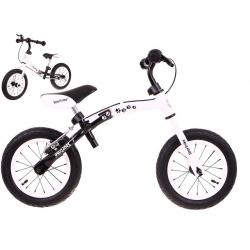 """Rowerek biegowy BOOMERANG 2w1 10-12 """" biały"""