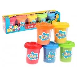 Masa plastyczna 5 kolorowych kubeczków