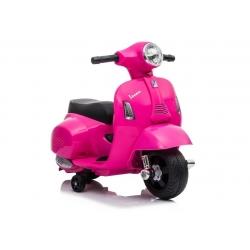 Motocykl motor na akumulator Skuter Vespa GTS 300 Mini Różowy