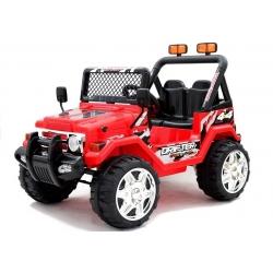 Auto Samochód na akumulator JEEP RAPTOR DWUOSOBOWY TERENOWY czerwony
