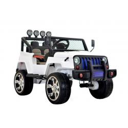 Auto samochód na akumulator JEEP Raptor DRIFTER napęd 4x4 biały