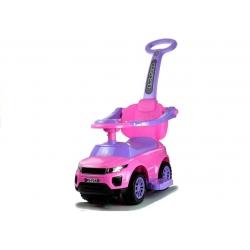Jeździk z pchaczem pojazd dla dzieci 614W różowy