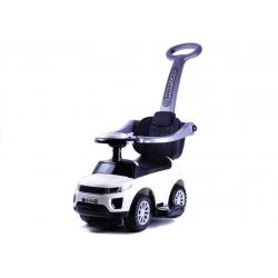 Jeździk z pchaczem pojazd dla dzieci 614W biały
