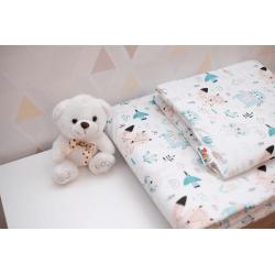 Pościel z wypełnieniem do łóżeczka 120x90 bawełna 100%