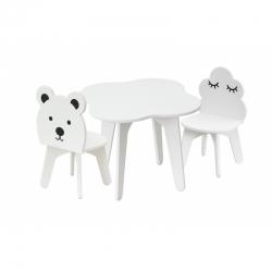 BR Stolik dziecięcy z krzesełkami zestaw 3 elementowy