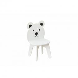 BR Krzesełko drewniane dla dzieci CHMURKA biale