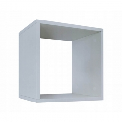 BR półka jednokomorowa LAURA biała