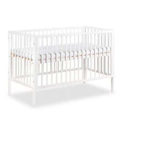 Klupś Łóżeczko dziecięce FRANK białe 120x60 cm