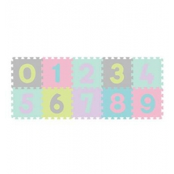 B.O.274/02 Puzzle piankowe 10szt Cyfry pastelowe